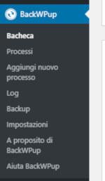 BackWPup: menù di navigazione interno