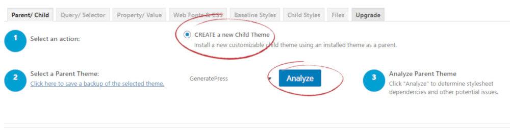 Child Theme Configurator Plugin: uso del plugin 1