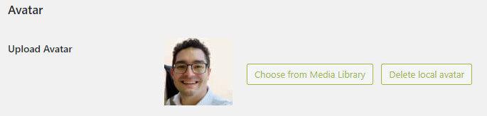 scegliere una foto locale per il proprio utente
