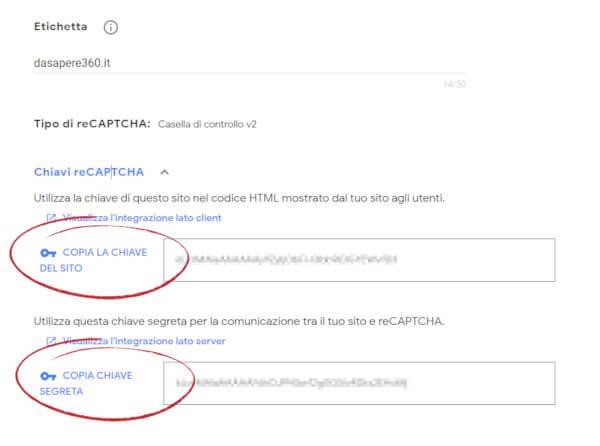 il servizio di Google reCAPTCHA