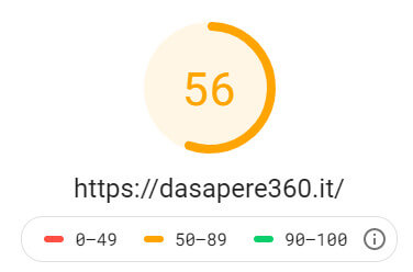 nuovo test google speed mobile