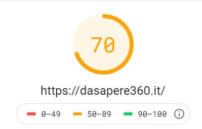 altro test di google speed insight mobile