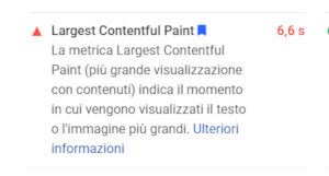 response di Google PageSpeed Insight
