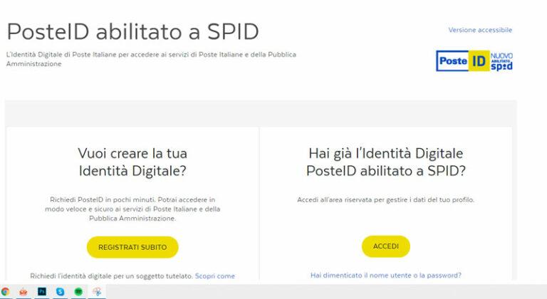 SPID POSTE ITALIANE: COS'è E COME RICHIEDERLO